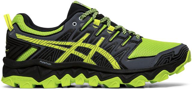 asics Gel FujiTrabuco 7 Shoes Men, green geckoblack